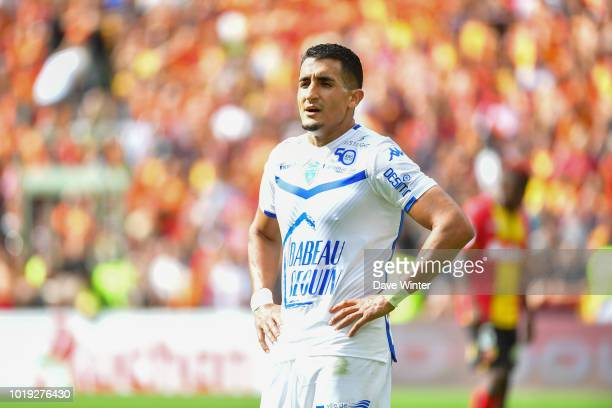 Ahmed Kashi of Troyes during the French Ligue 2 match between RC Lens and Troyes at Stade BollaertDelelis on August 18 2018 in Lens France