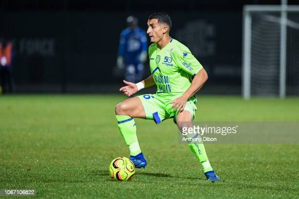 Ahmed Kashi of Troyes during the Ligue 2 match between Red Star and Troyes at Stade Pierre Brisson on November 30 2018 in Beauvais France