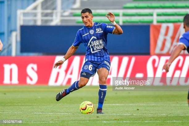 Ahmed Kashi of Troyes during the Ligue 2 match between Troyes and Brest at Stade de l'Aube on August 3 2018 in Troyes France