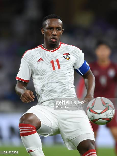 Ahmed Khalil Aljunaibi of United Arab Emirates in action during the AFC Asian Cup Group A match between the United Arab Emirates and Thailand at...