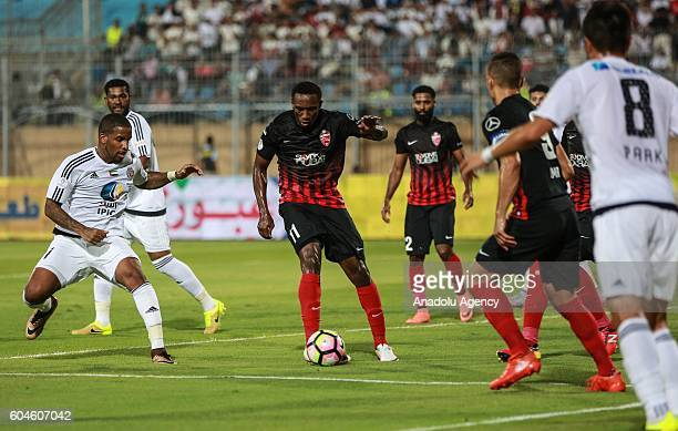 Ahmed Khalil of Al Ahli Dubai is in action during the Arabian Gulf Super Cup match between United Arab Emirates teams AlJazira and AlAhli at the 30...