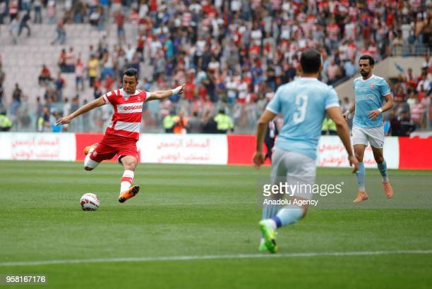 Ahmed Khalil of Club Africain in action during the Tunisian Cup final match between Etoile Sahel and Club Africain at Rades Stadium in Ben Arous...