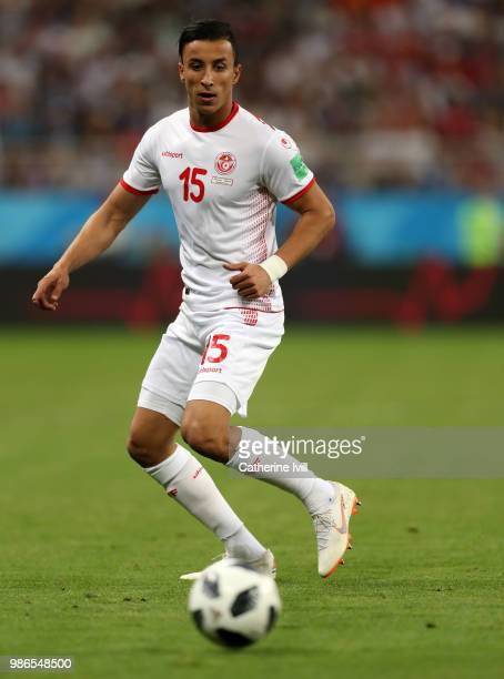 Ahmed Khalil of Tunisia during the 2018 FIFA World Cup Russia group G match between Panama and Tunisia at Mordovia Arena on June 28 2018 in Saransk...