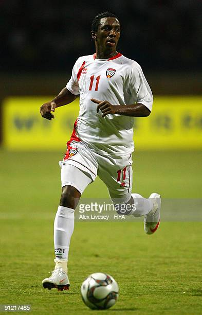 Ahmed Khalil of United Arab Emirates during the FIFA U20 World Cup Group F match between United Arab Emirates and South Africa at the Alexandria...