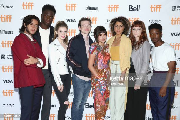 Ahmed Malek Stepahne Bak Eleanor WorthingtonCox Josh Wiggins Devery Jacobs Jess Salgueiro Michaela Kurimsky and Lamar Johnson attend The 2018 Rising...