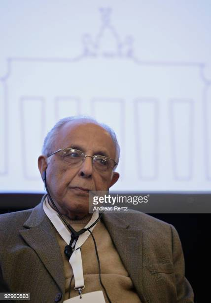 Ahmed Mohamed Kathrada looks on at the 10th World Summit of Nobel Peace Laureates at Berlin town hall on November 10 2009 in Berlin Germany