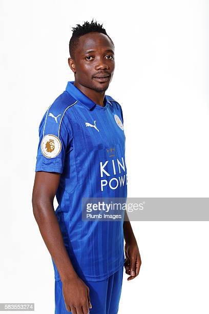 Ahmed Musa during Leicester City Official Portraits at Belvoir Drive Training Complex on July 21 2016 in Leicester United Kingdom