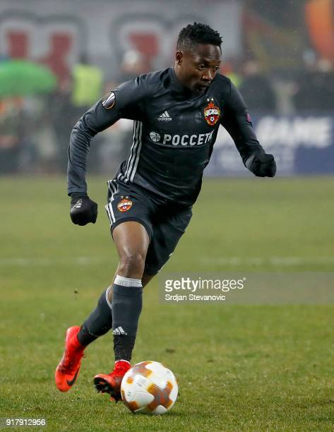 Ahmed Musa of CSKA Moscow in action during UEFA Europa League Round of 32 match between Crvena Zvezda Belgrade and CSKA Moscow at the Rajko Mitic...