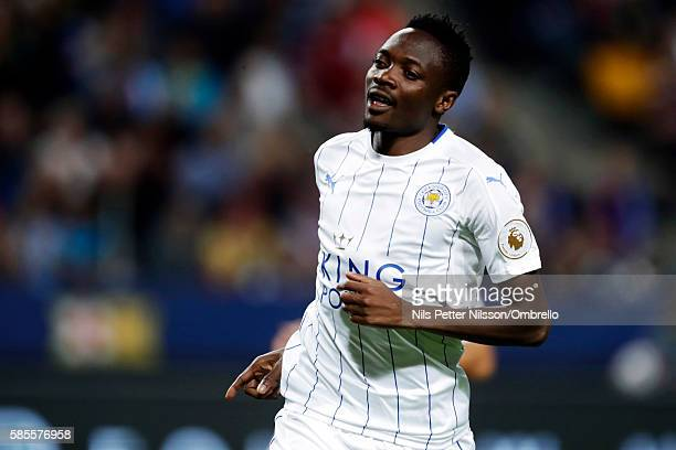 Ahmed Musa of Leicester City FC celebrates after scoring to 13 during the International Champions Cup match between Leicester City FC and FC...