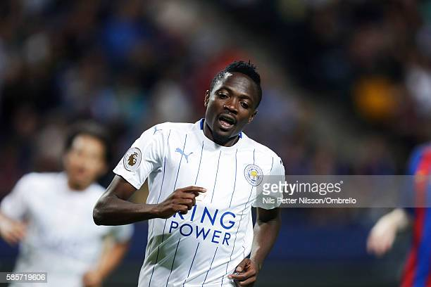 Ahmed Musa of Leicester City FC during the PreSeason Friendly between Leicester City FC and FC Barcelona at Friends arena on August 3 2016 in Solna...