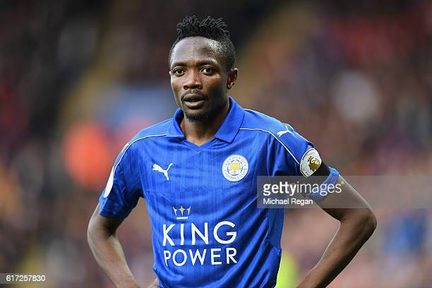 Ahmed Musa of Leicester City looks on during the Premier League match between Leicester City and Crystal Palace at The King Power Stadium on October...