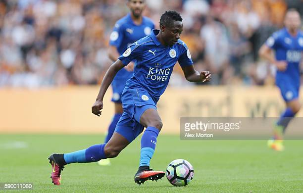 Ahmed Musa of Leicester during the Premier League match between Hull City and Leicester City at KC Stadium on August 13 2016 in Hull England