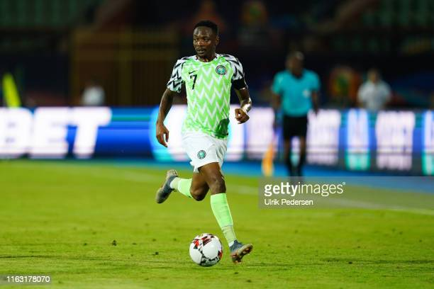 Ahmed Musa of Nigeria during the 2019 Africa Cup of Nations third place final soccer match between Tunisia and Nigeria at the Al-Salam Stadium on...