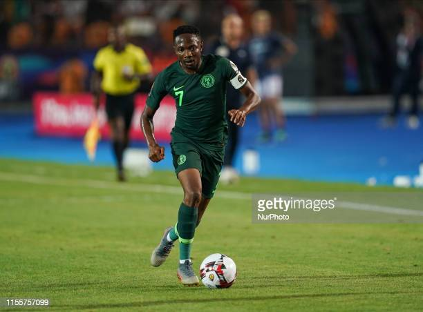 Ahmed Musa of Nigeria during the 2019 African Cup of Nations match between Algeria and Nigeria at the Cairo International Stadium in Cairo, Egypt on...