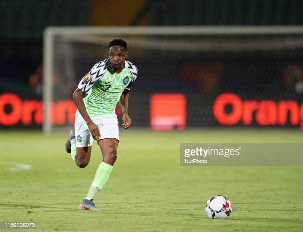 Ahmed Musa of Nigeria during the 2019 African Cup of Nations match between Tunisia and Nigeria at the Al Salam Stadium in Cairo, Egypt on July 17,...