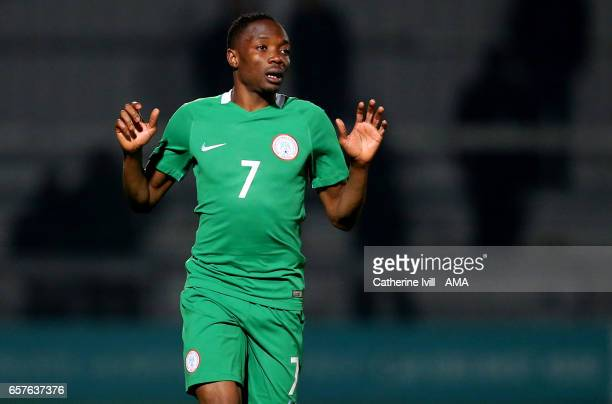 Ahmed Musa of Nigeria during the International Friendly match between Nigeria and Senegal at The Hive on March 23 2017 in Barnet England