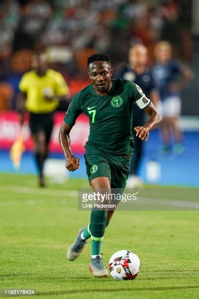 Ahmed Musa of Nigeria during the Semi Final African Nations Cup match between Nigeria and Algeria on 14th July 2019. Photo : Ulrik Pedersen / Icon...