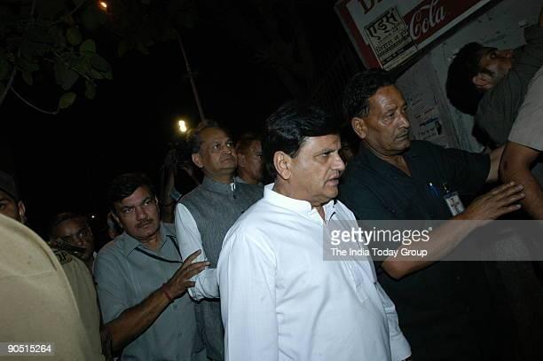 Ahmed Patel AICC General Secretary visiting at Hospital after the bomb Blast in Jama Masjid Delhi India