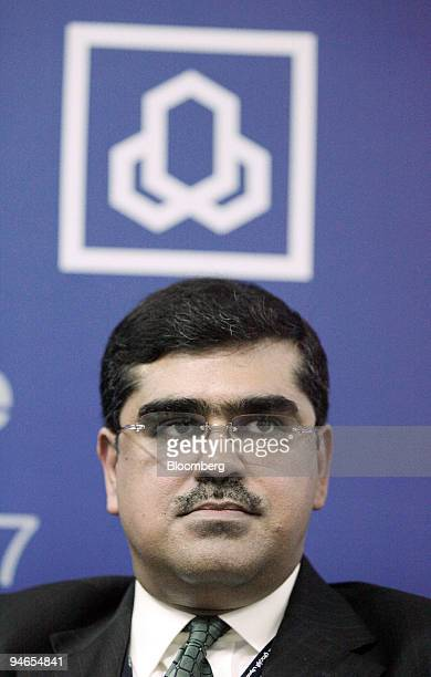 Ahmed Rehman chief executive officer of Al Rajhi Bank Malaysia listens at a news conference during the opening of the bank in Kuala Lumpur Malaysia...