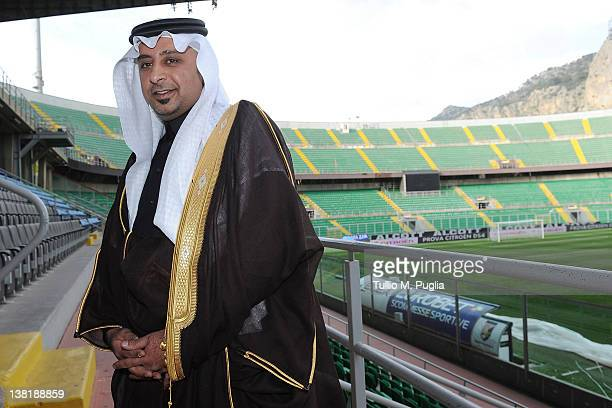 Ahmed S. Al Zubeidi, President and CEO of AMA Group , poses before a US Citta di Palermo press conference at Stadio Renzo Barbera on February 4, 2012...