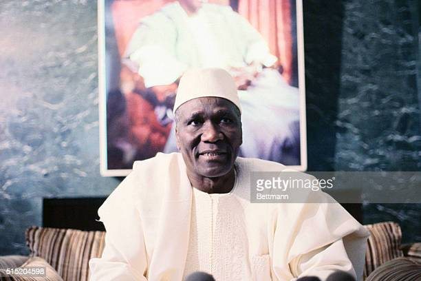 Ahmed Sekou Toure President of the Republic of Guines in the Guinea Embassy in Washington