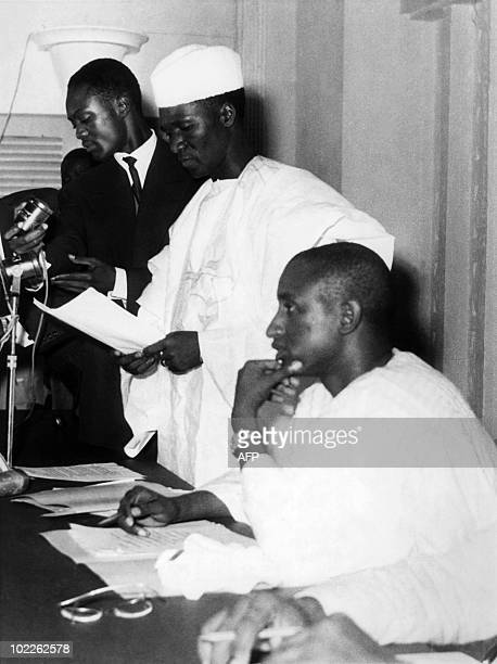 Ahmed Seku Toure President of Guinea the new independent state in South West Africa announces 04 October 1958 in front of National Assembly the...