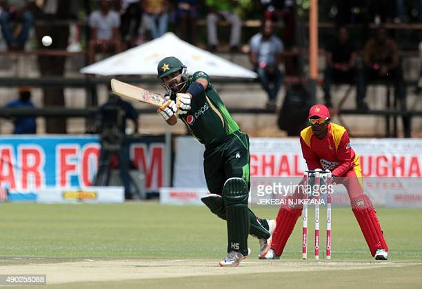 Ahmed Shahzad in action in action during the first of two T20 cricket matches between Pakistan and hosts Zimbabwe at Harare Sports Club September 27...