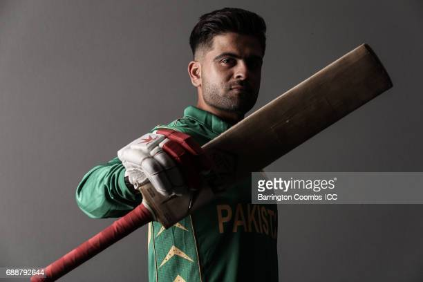 Ahmed Shehzad of Pakistan poses during the portrait session at the Malmaison Hotel on May 26 2017 in Birmingham England