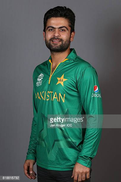 Ahmed Shehzad poses during a Pakistan headshots session on March 14 2016 in Kolkata India