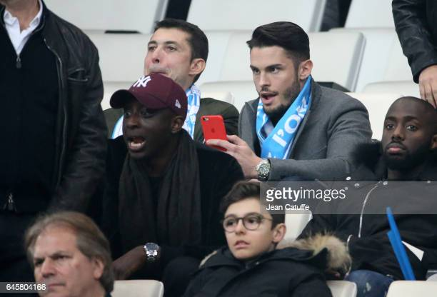 Ahmed Sylla Baptiste Giabiconi attend the French Ligue 1 match between Olympique de Marseille and Paris Saint Germain at Stade Velodrome on February...