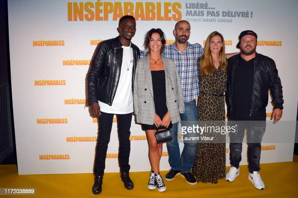 Ahmed Sylla Ornella Fleury Varante Soudjian Judith El Zein and Alban Ivanov attend the Inseparables Premiere At UGC Cine Cite Bercy on September 02...