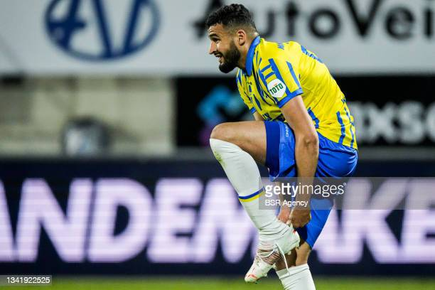 Ahmed Touba of RKC Waalwijk during the Dutch Eredivisie match between RKC Waalwijk and Willem II at Mandemakers Stadion on September 21, 2021 in...