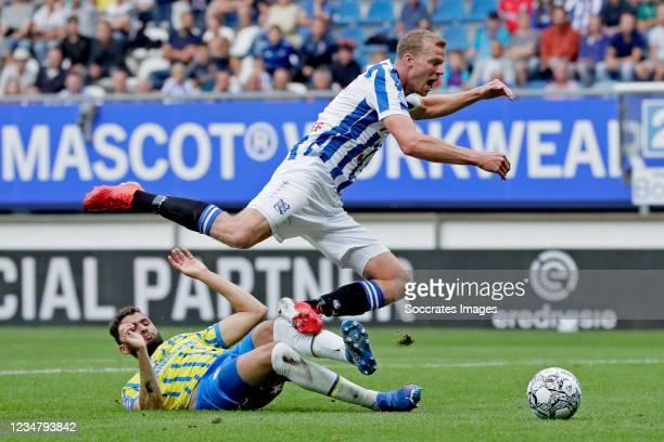 Ahmed Touba of RKC Waalwijk, Henk Veerman of SC Heerenveen during the Dutch Eredivisie match between SC Heerenveen v RKC Waalwijk at the Abe Lenstra...