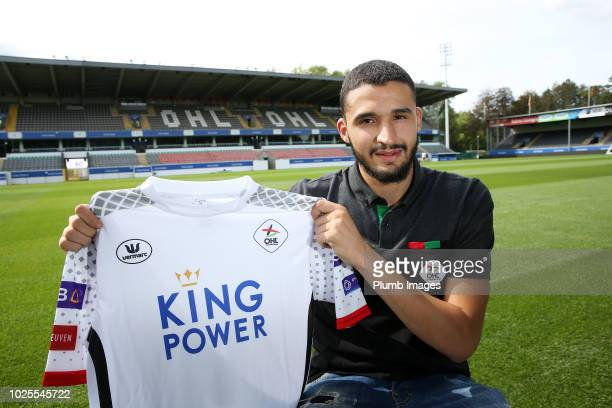 Ahmed Touba poses after signing for OH Leuven on August 31 2018 in Leuven Belgium