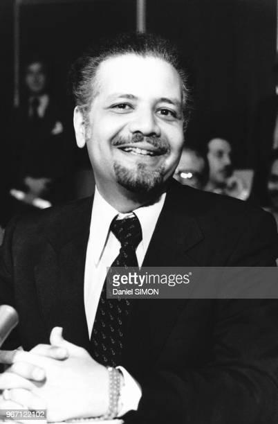 Ahmed Zaki elYamani ministre saoudien du Pétrole lors d'une réunion des pays membres de l'OPEP le 26 juin 1979 à Genève Suisse