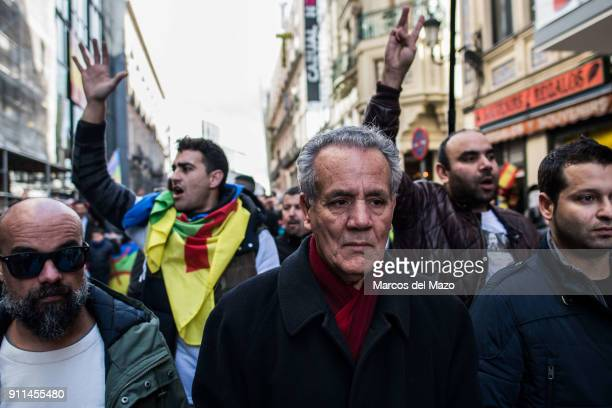 Ahmed Zefzafi father of political activist Nasser Zefzafi leader of the protest movement in the Rif supporting a demonstration calling for the...