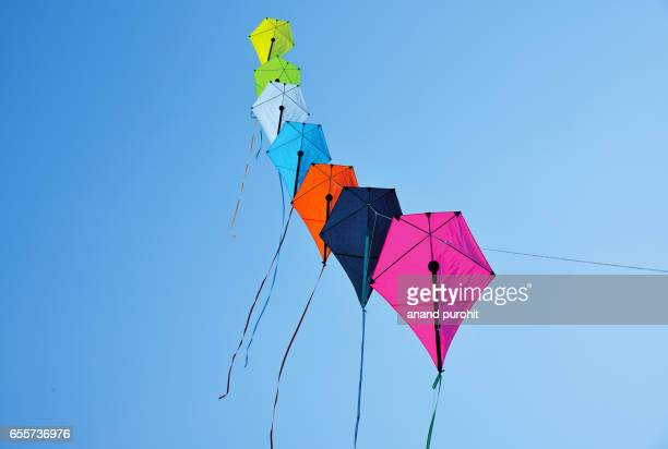 Ahmedabad, India – January  08, 2017: International Kite Festival, Sabarmati Riverfront. The skies of Ahmedabad come alive with life sized, colourful and thematic kites.