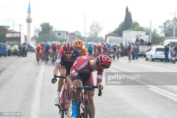 Ahmet Akdilek of Turkey and National Team of Turkey in action during the fifth stage the Vestel Stage 1373km Selcuk Manisa of the 54th Presidential...