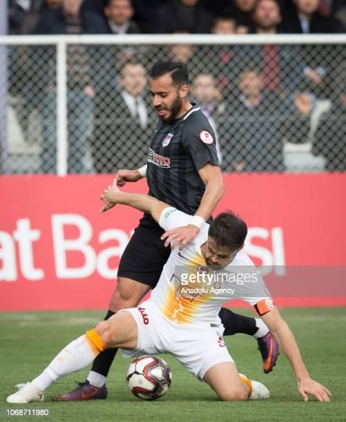 Ahmet Calik of Galatasaray in action during the Ziraat Turkish Cup match between Keciorengucu and Galatasaray at Ankara Aktepe Stadium in Ankara...