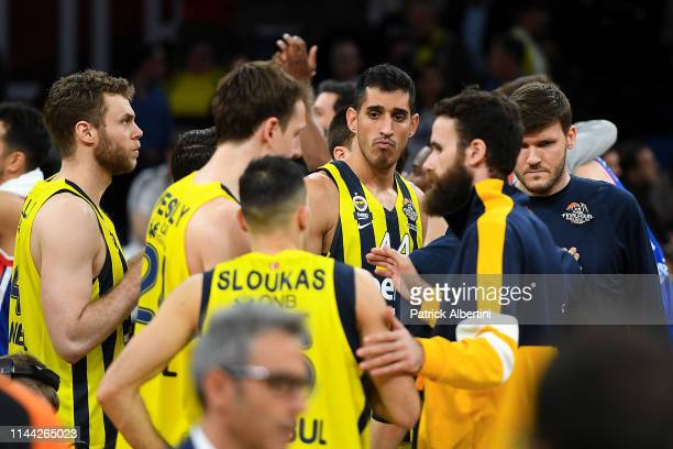 Ahmet Duverioglu #44 of Fenerbahce Beko Istanbul after the 2019 Turkish Airlines EuroLeague Final Four Semifinal A game between Fenerbahce Beko...