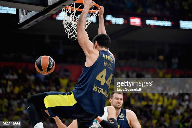 Ahmet Duverioglu #44 of Fenerbahce Dogus Istanbul in action during the 2018 Turkish Airlines EuroLeague F4 Championship Game between Real Madrid v...