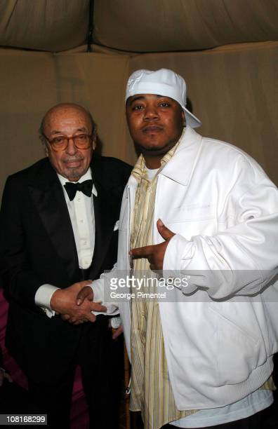 Ahmet Ertegun and Twista during Atlantic Records at Warner Music Group 2005 After GRAMMY Awards Party at Pacific Design Center in Los Angeles,...
