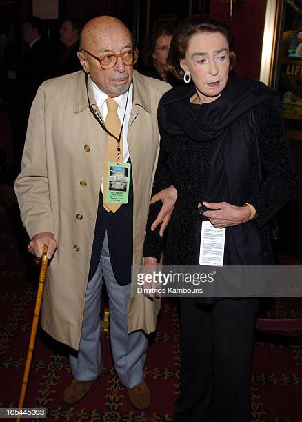 "Ahmet Ertegun and wife Mica during ""The Life Aquatic with Steve Zissou"" New York Premiere - Inside Arrivals at Ziegfeld Theater in New York City, New..."