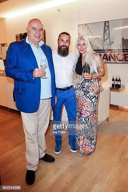 Ahmet Pekkip Tobias Bojko CEO Ajoure magaine and german actress Simone Bechtel attend the 'Glatzel Szczesny New York Saint Tropez meets Berlin'...