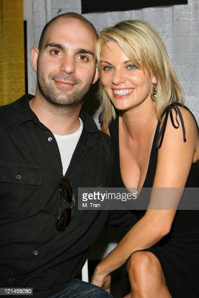 Ahmet Zappa and girlfriend Nichole Hiltz during 2007 Wizard World Day 2 at Los Angeles Convention Center in Los Angeles California United States