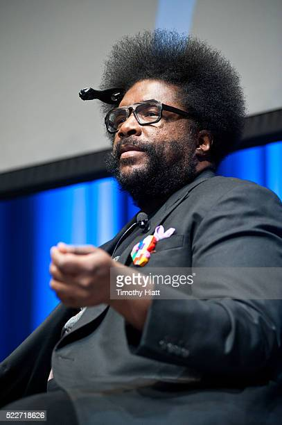 Ahmir Khalib Thompson aka Questlove attends food For Thought At Chicago Ideas 2016 at Venue SIX10 on April 20 2016 in Chicago Illinois
