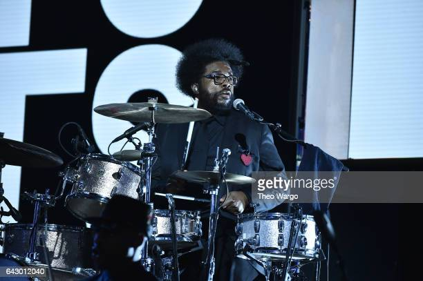 Ahmir 'Questlove' Thompson of The Roots performs at the 66th NBA AllStar Game at Smoothie King Center on February 19 2017 in New Orleans Louisiana