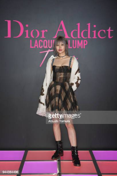 Ahn Ah Reun attends the Dior Addict Lacquer Plump Party at 1 OAK on April 10 2018 in Tokyo Japan