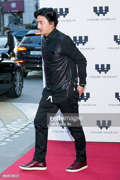 Ahn JungHwan attends the photo call for the opening of Figure Museum W on February 26 2015 in Seoul South Korea
