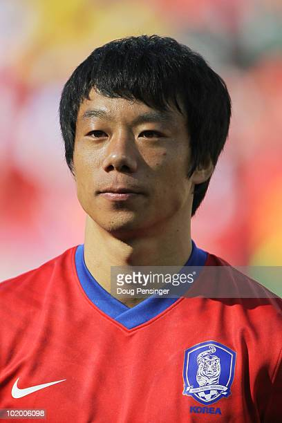 Ahn JungHwan of South Korea during the 2010 FIFA World Cup South Africa Group B match between South Korea and Greece at Nelson Mandela Bay Stadium on...